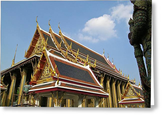 Rama Greeting Cards - Wat Po Bangkok Thailand 24 Greeting Card by Douglas Barnett