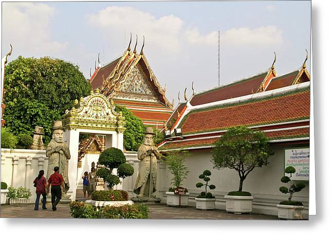 Rama Greeting Cards - Wat Po Bangkok Thailand 35 Greeting Card by Douglas Barnett
