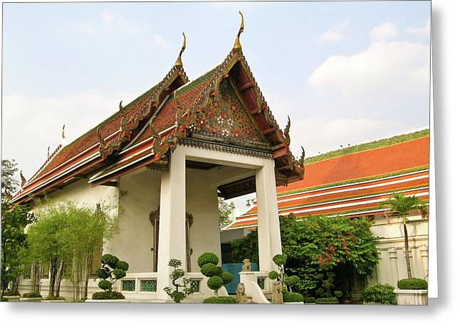 Rama Greeting Cards - Wat Po Bangkok Thailand 39 Greeting Card by Douglas Barnett