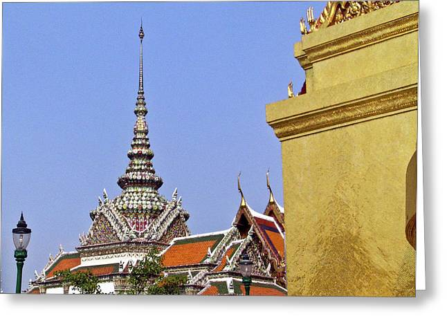 Rama Greeting Cards - Wat Po Bangkok Thailand 6 Greeting Card by Douglas Barnett