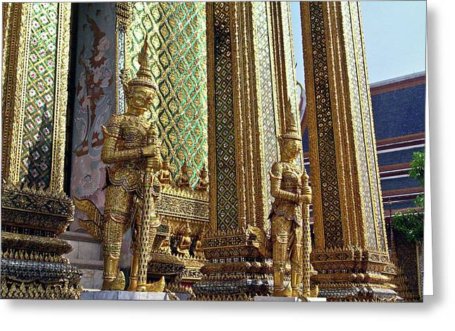 Rama Greeting Cards - Wat Po Bangkok Thailand 9 Greeting Card by Douglas Barnett