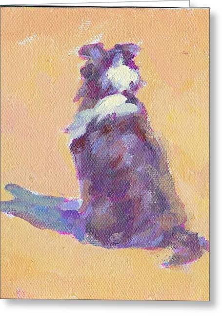 On The Beach Greeting Cards - Watch Dog 11 Greeting Card by Lucelle Raad