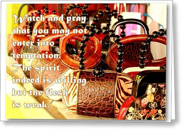 Bible Greeting Cards - Watch Greeting Card by Jans Nierra