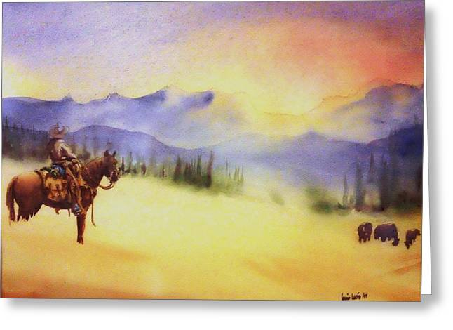 Lone Horse Paintings Greeting Cards - Watch Greeting Card by Luis  Leon