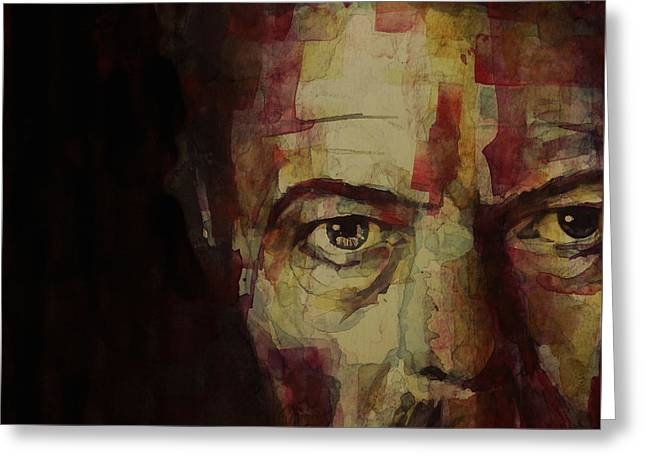 British Celebrities Greeting Cards - Watch That Man Bowie Greeting Card by Paul Lovering