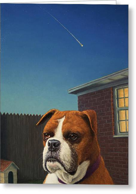 Watch Paintings Greeting Cards - Watchdog Greeting Card by James W Johnson