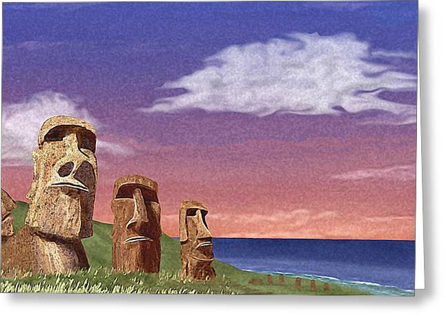 Steadfast Greeting Cards - Watchers Greeting Card by Gordon Beck