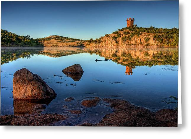 Southwest Oklahoma Greeting Cards - Watchful Greeting Card by Carl Evans
