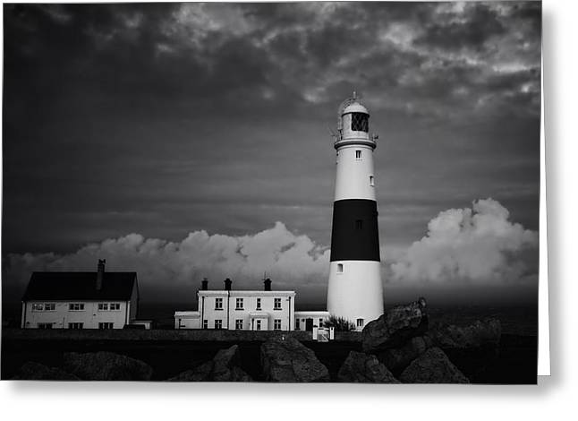 Stormy Weather Greeting Cards - Watchful Sunset Greeting Card by Anthony Poynton