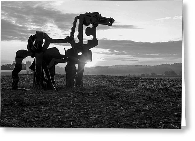 Watchful The Iron Horse  Greeting Card by Reid Callaway
