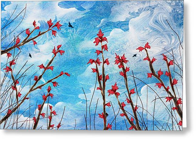 Hallucination Greeting Cards - Watching clouds go by Greeting Card by Rachel Christine Nowicki