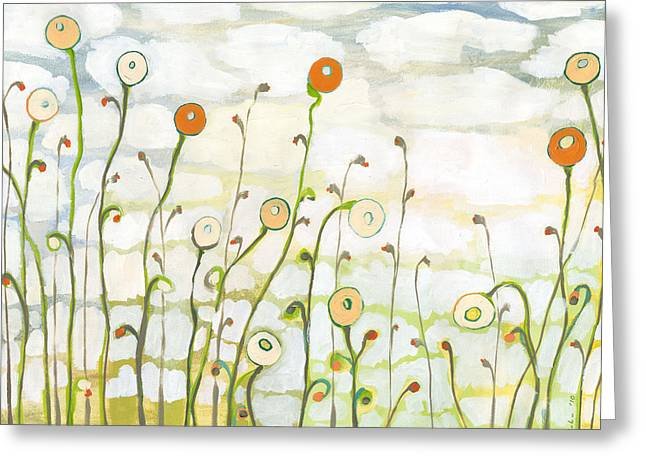 Cloud Greeting Cards - Watching the Clouds Go By No 2 Greeting Card by Jennifer Lommers