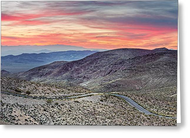 Watching The Sunrise From Dante's View - Black Mountains Death Valley National Park California Greeting Card by Silvio Ligutti