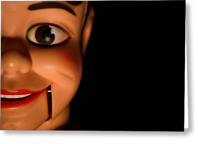 Creepy Digital Greeting Cards - Watching You... Danny O Day Ventriloquist Dummy Greeting Card by D S Images