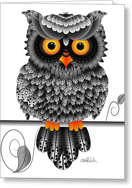 Digital Media Drawings Greeting Cards - Watching You Greeting Card by Isabel Salvador