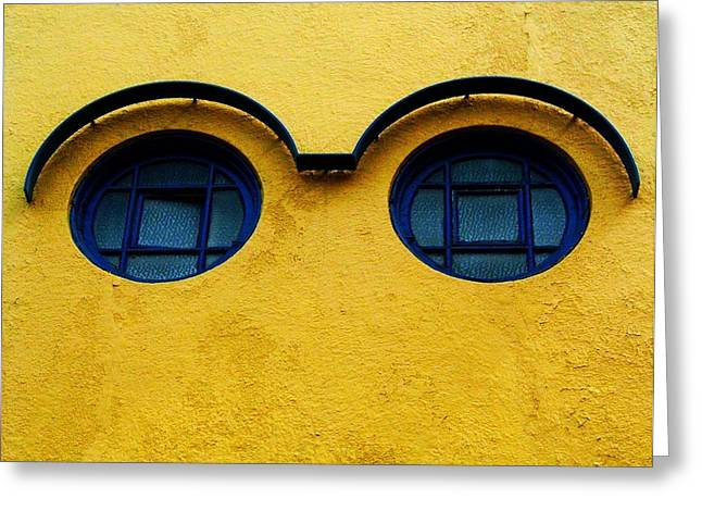 Fenster Greeting Cards - Watching You ... Greeting Card by Juergen Weiss