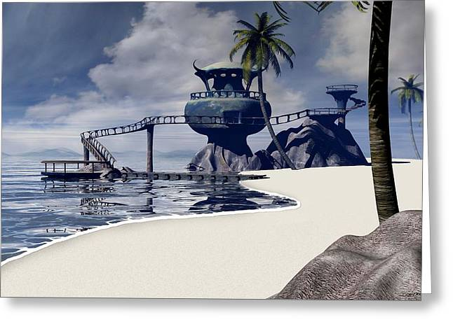 Imagination Greeting Cards - Watchtower Beach Greeting Card by Cynthia Decker