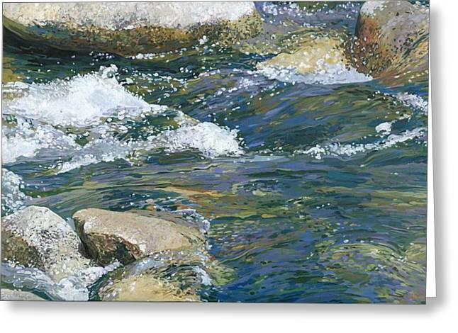 Nadi Spencer Greeting Cards - Water 2 Greeting Card by Nadi Spencer