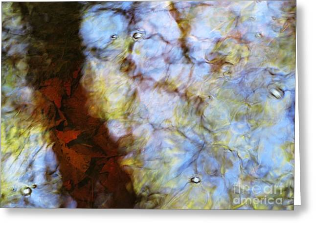Glassy Lake Surface Greeting Cards - Water Abstract 28 Greeting Card by Joanne Baldaia - Printscapes