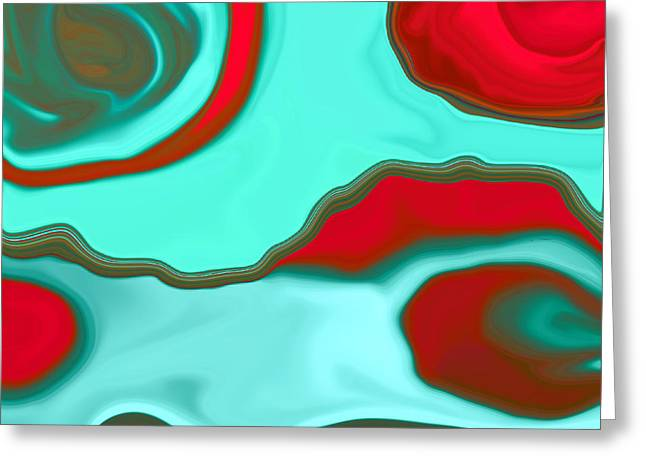 Water Abstract2 Greeting Card by Linnea Tober