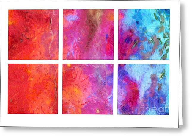 Merging Greeting Cards - Water and Fire Abstract Greeting Card by Edward Fielding