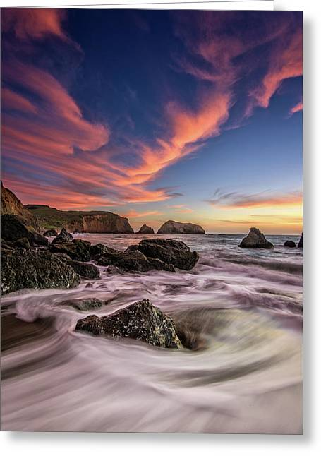 Water And Fire Greeting Card by Rick Berk