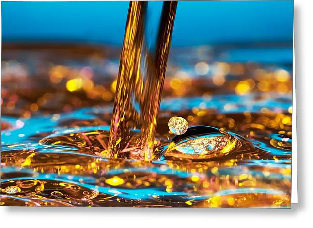 Energy Photographs Greeting Cards - Water And Oil Greeting Card by Setsiri Silapasuwanchai