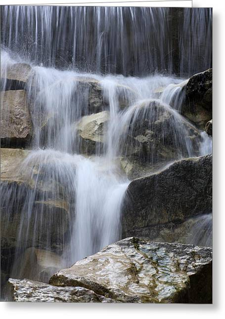 Water Falls Greeting Cards - Water and Rocks Greeting Card by Frank Tschakert