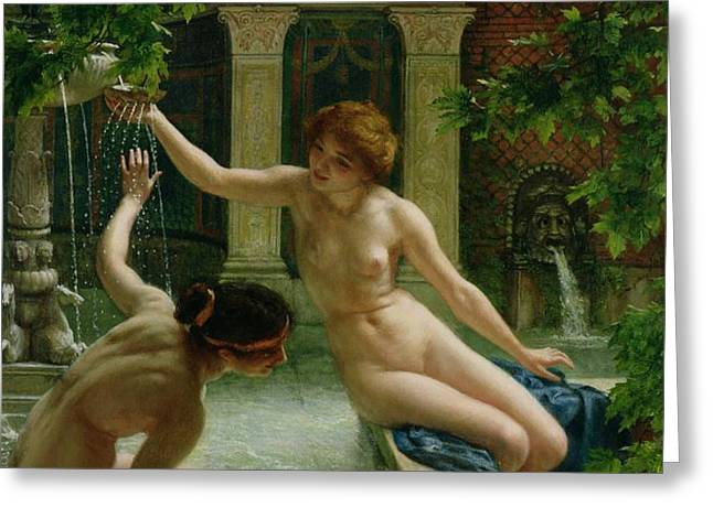 Water Babies Greeting Card by Sir Edward John Poynter