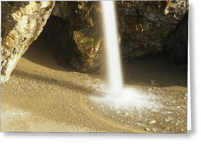 Water Beam - Mcway Falls Greeting Card by Soli Deo Gloria Wilderness And Wildlife Photography