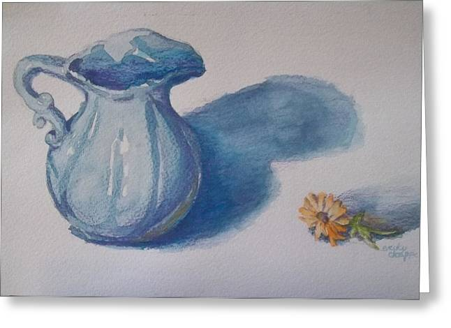 Water Jug Greeting Cards - Water Greeting Card by Becky Chappell