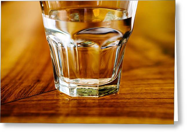 Table Greeting Cards - Water Greeting Card by Chee Sim