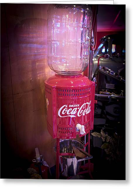 Coca Cola.coke-a-cola Greeting Cards - Water Cooler  Greeting Card by Jon Berghoff