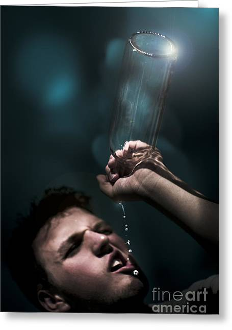 Ending Poverty Greeting Cards - Water Crisis Greeting Card by Ryan Jorgensen