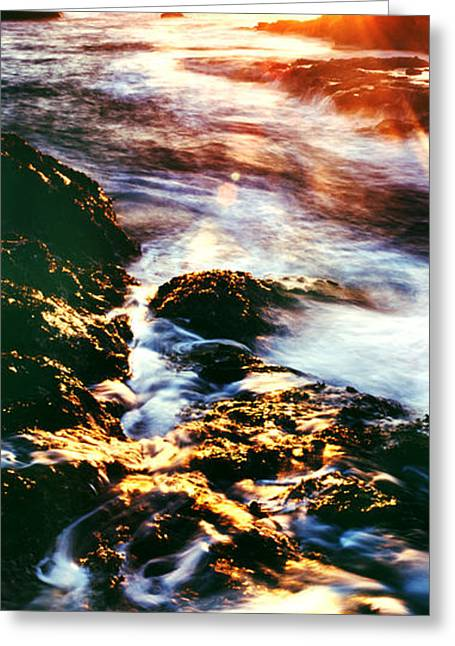 Ocean Art Photography Greeting Cards - Water Dance Greeting Card by Edward Mendes