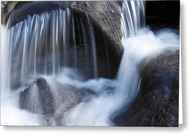 Beautiful Creek Photographs Greeting Cards - Water dance Greeting Card by Les Cunliffe