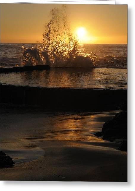 Best Sellers -  - Engulfing Greeting Cards - Water Dance Greeting Card by Stephen Coburn