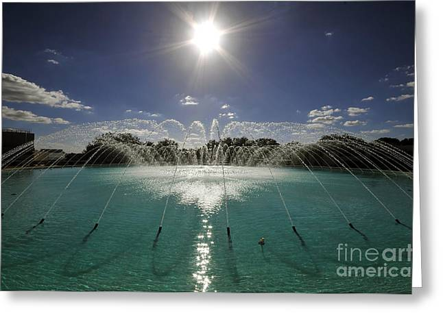 Southern Colleges Greeting Cards - Water Dome Greeting Card by David Lee Thompson