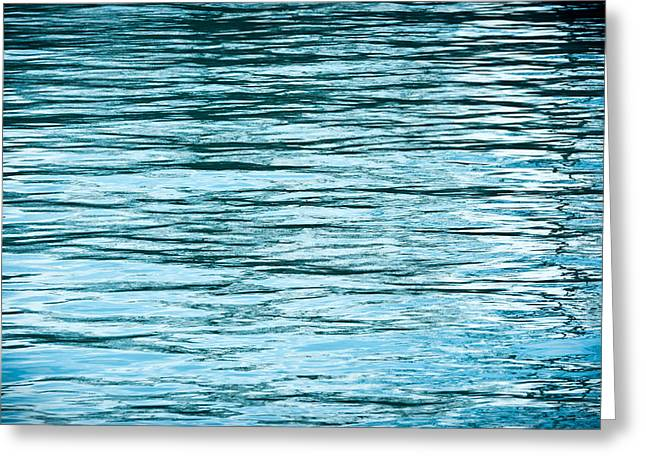 Ripples Greeting Cards - Water Flow Greeting Card by Steve Gadomski