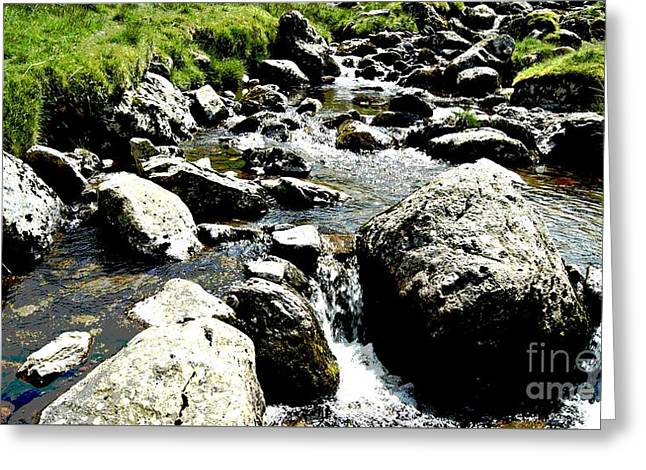 Water Flowing Mixed Media Greeting Cards - Water flowing 7 Greeting Card by LDS Dya