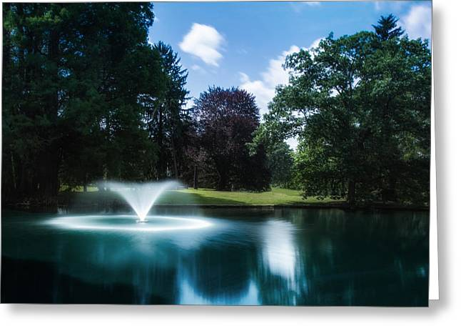 Etheral Greeting Cards - Water Fountain at Spring Grove Greeting Card by Tom Mc Nemar