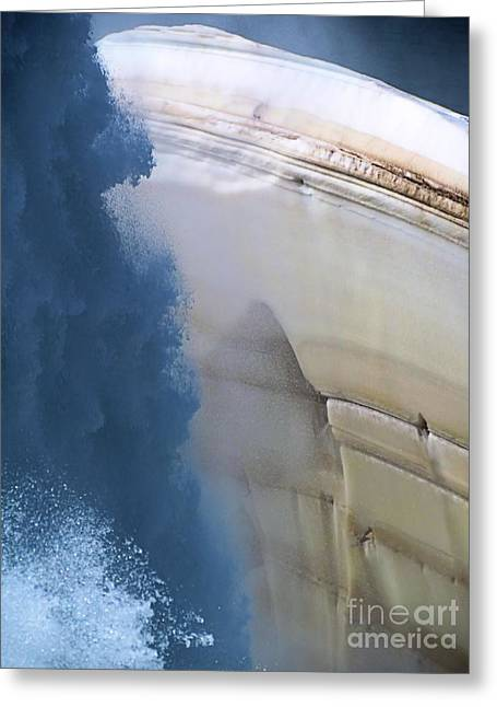 Layers Greeting Cards - Water Hath No Mercy Greeting Card by Elizabeth Dow