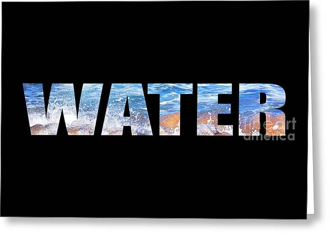 Commercial Photography Digital Greeting Cards - Water Greeting Card by Kaye Menner