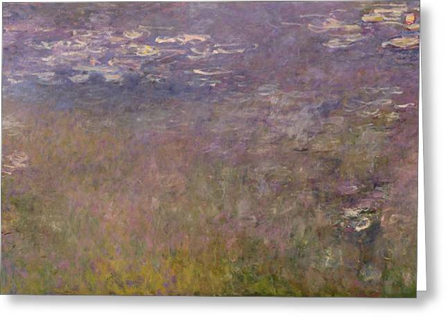 Water Lilies Agapanthus Greeting Card by Claude Monet