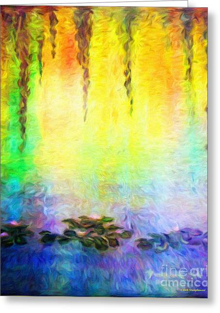Water Lilies At Dawn Greeting Card by Jerome Stumphauzer