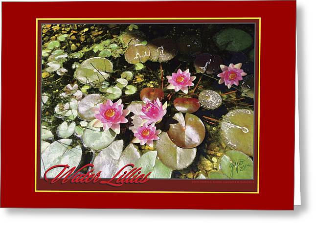 Water Lillies Greeting Card by Ellie Darlene Guillot