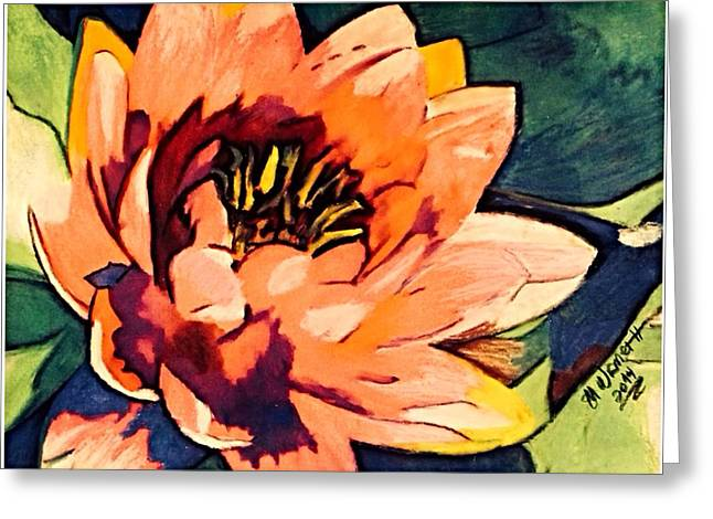 Water Lilly Pastels Greeting Cards - Water Lilly  Greeting Card by Mary Wismer