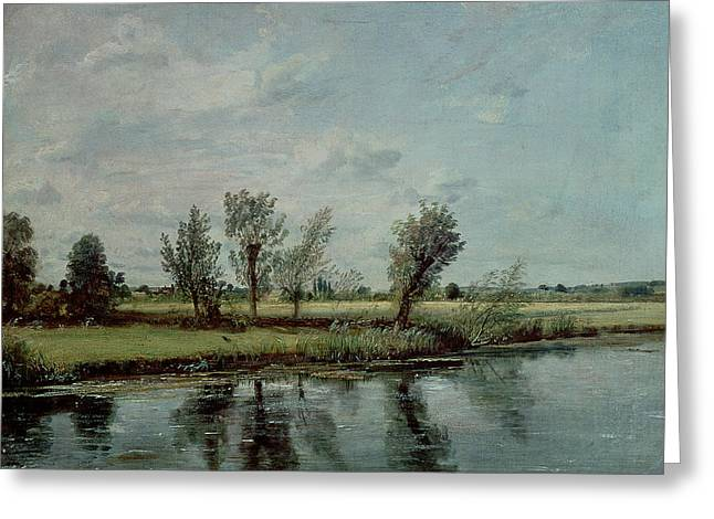 Constable Greeting Cards - Water Meadows near Salisbury Greeting Card by John Constable