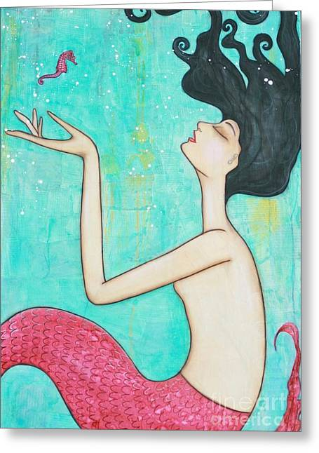 Water Nymph Greeting Card by Natalie Briney