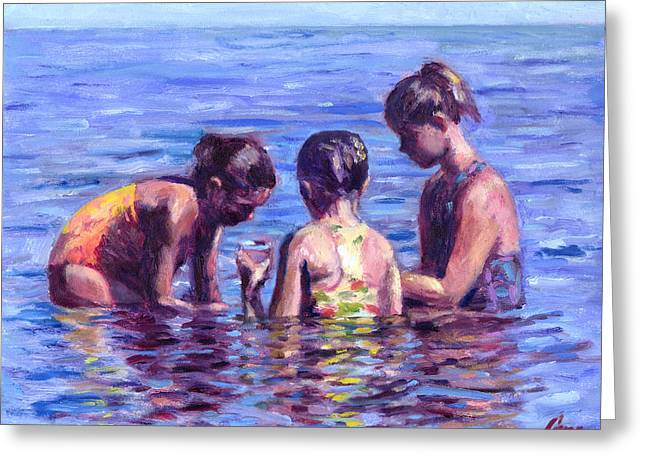 Water Nymphs Greeting Card by Michael Camp